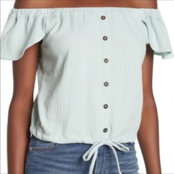 Madewell Tops - Madewell Off the Shoulder Top